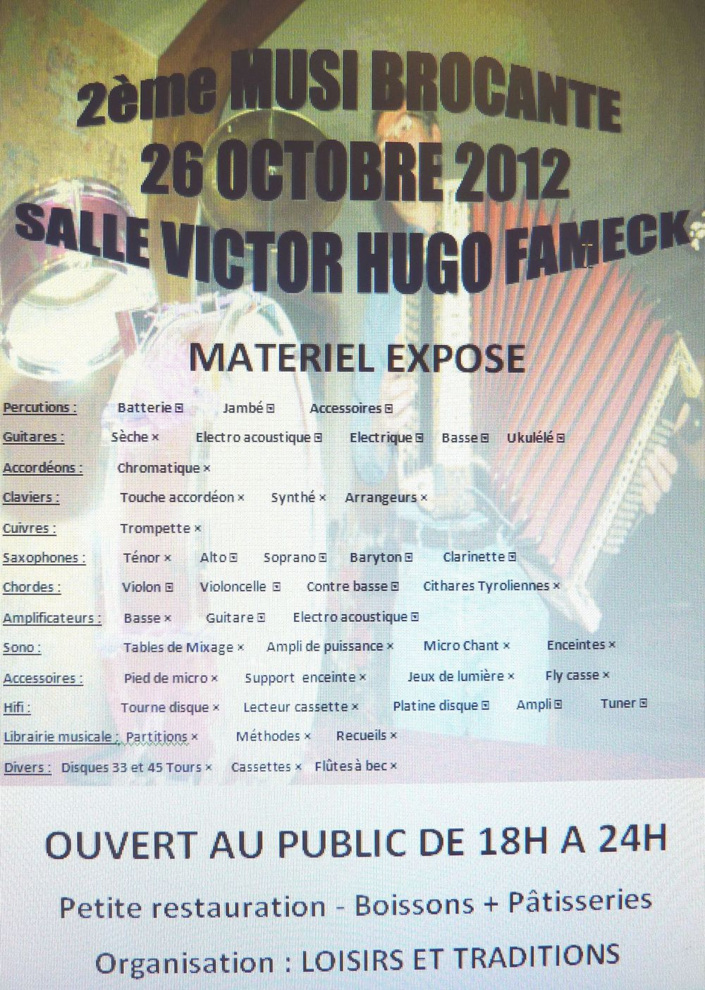 2eme BROCANTE MUSICALE FAMECK 2012